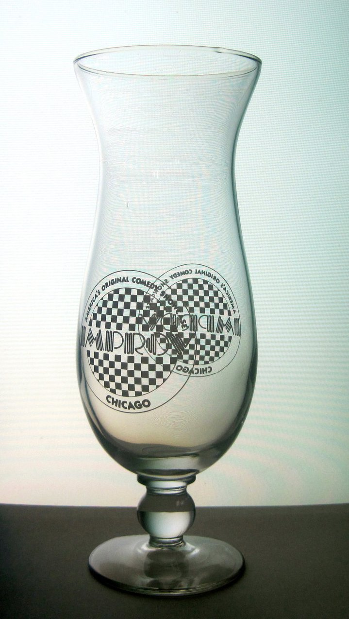 Improv Comedy Club Chicago Hurricane Glass 22 oz Collectible