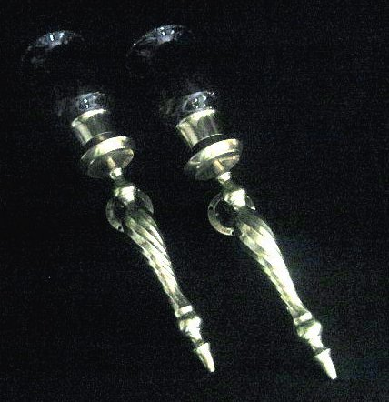 Wall Sconces Solid Brass Swirled Post Lot of 2