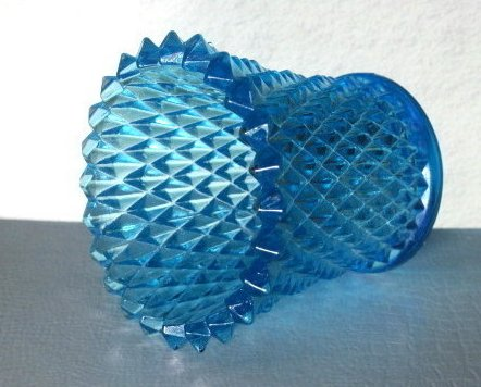 Home Interiors Peg Votive Candle Holder Baby Blue Diamondlite