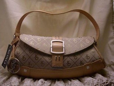 XOXO Essential Bag Brown with Keyring Handbag Purse Light Brown Canvas