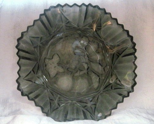 Image 1 of Federal Glass Pioneer Pattern Fruit Bowl Dark Gray