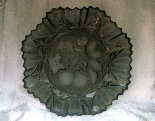 Image 2 of Federal Glass Pioneer Pattern Fruit Bowl Dark Gray