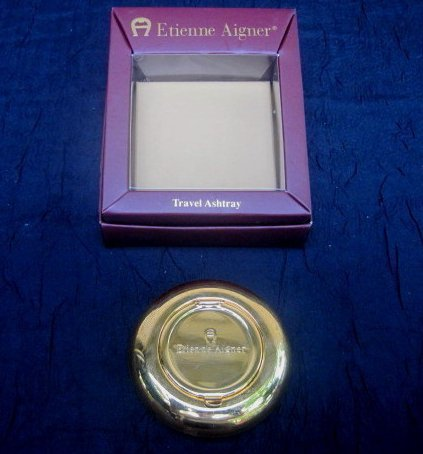 Etienne Aigner Travel Ashtray 461R Goldtone