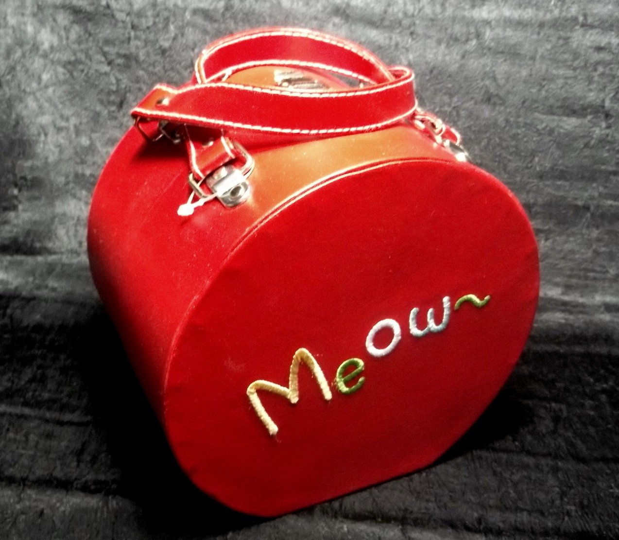 Travel Food and Water Bowls for Cat Meow Red Pet Boutique