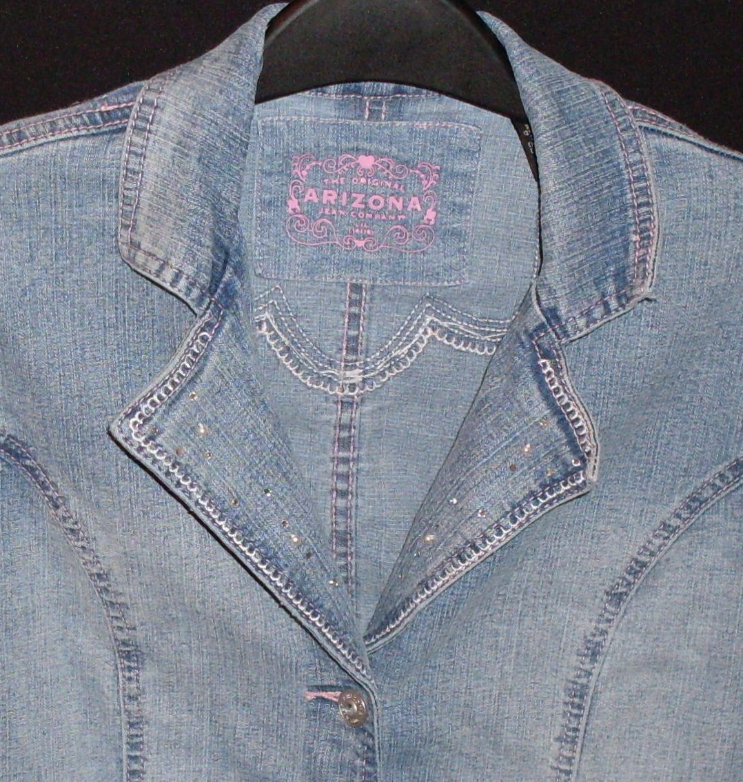 '.Girls Jean Jacket Fitted Lg 14.'