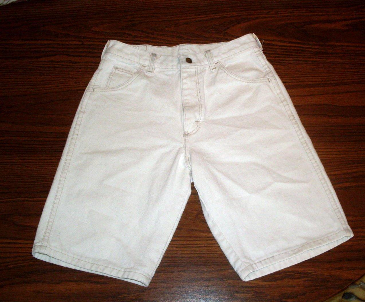 Girls Long Shorts Wranglers White Denim Size 14