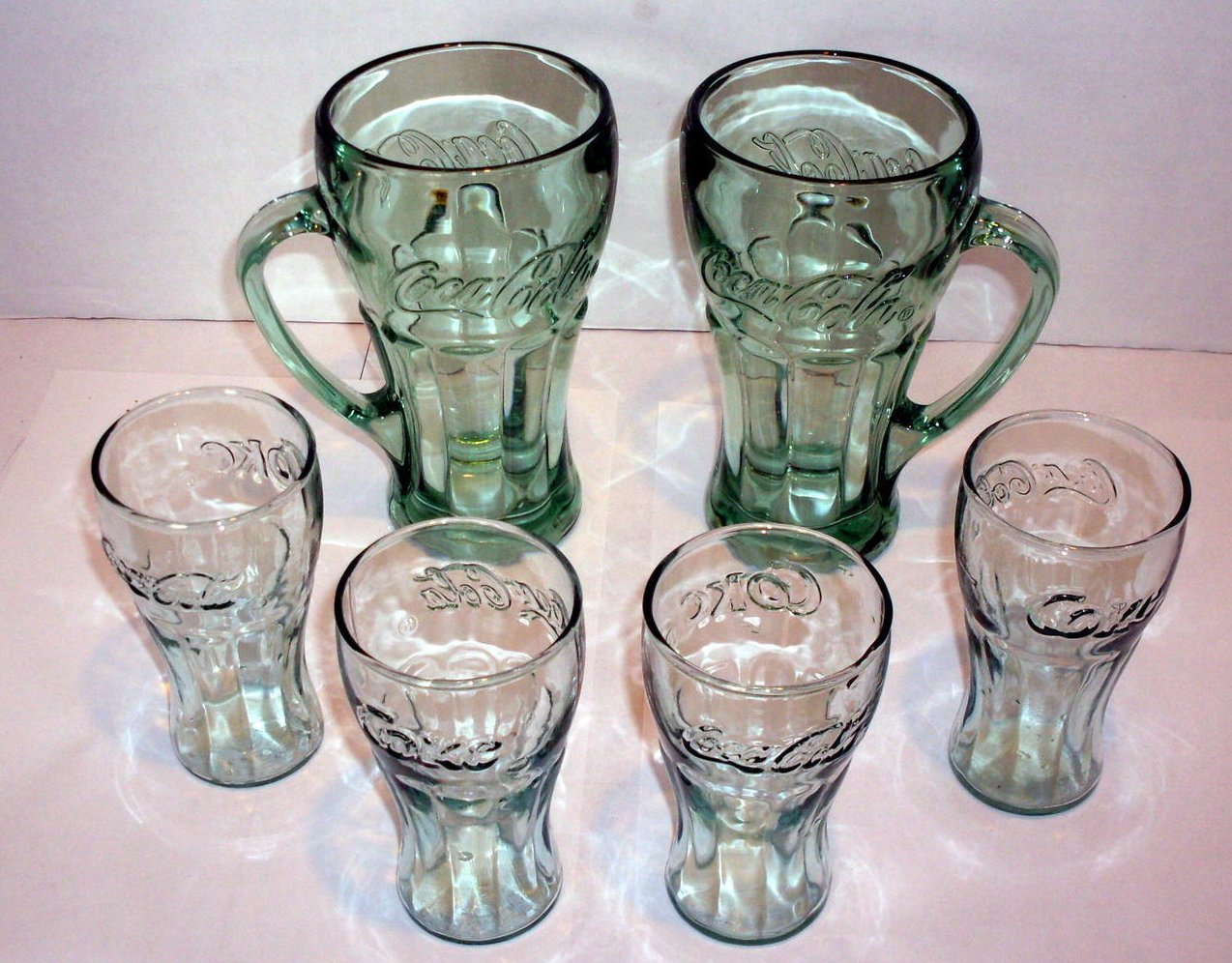 Image 0 of Coca Cola Mugs and Juice glasses Lot of 6