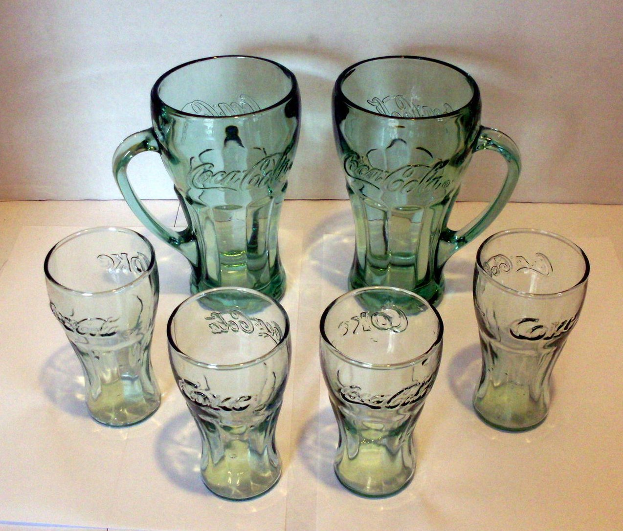 Image 1 of Coca Cola Mugs and Juice glasses Lot of 6