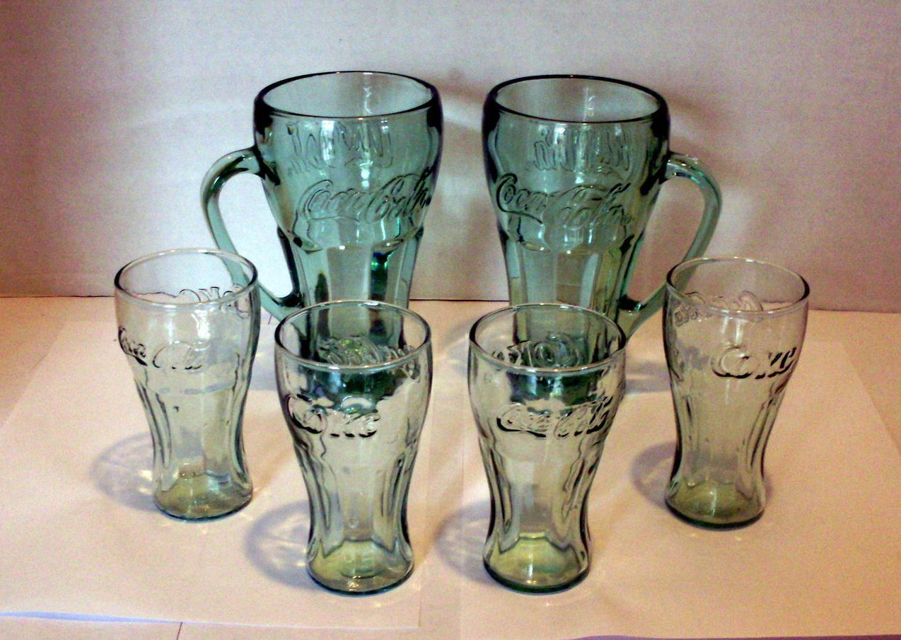 Image 2 of Coca Cola Mugs and Juice glasses Lot of 6