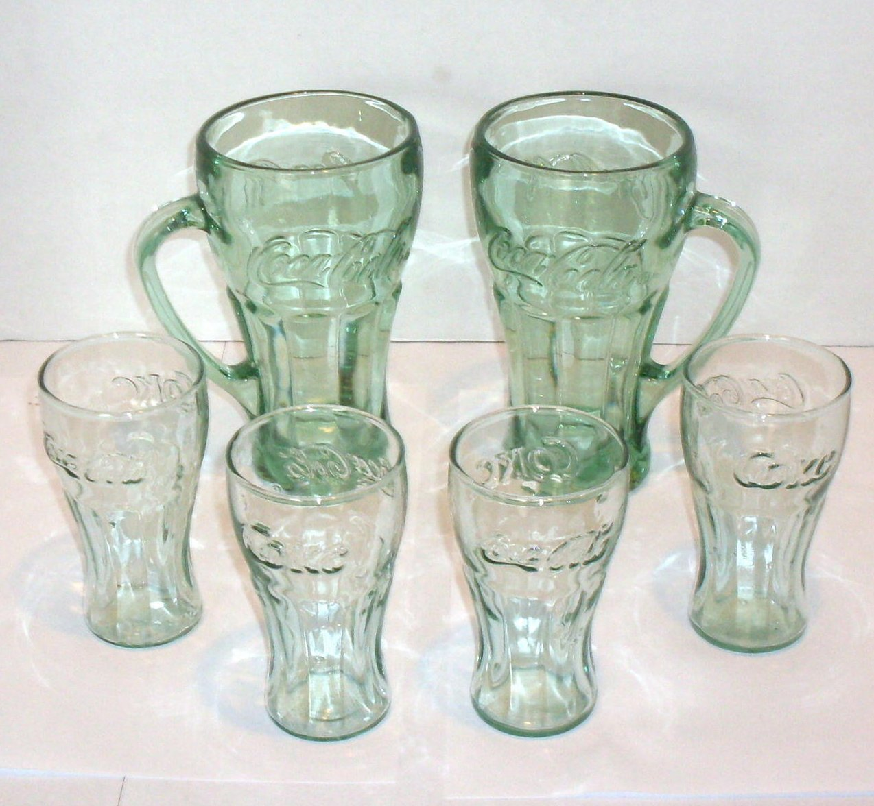 Image 3 of Coca Cola Mugs and Juice glasses Lot of 6