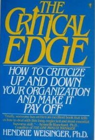 Image 0 of The Critical Edge by Hendrie Weisinger, Ph.D