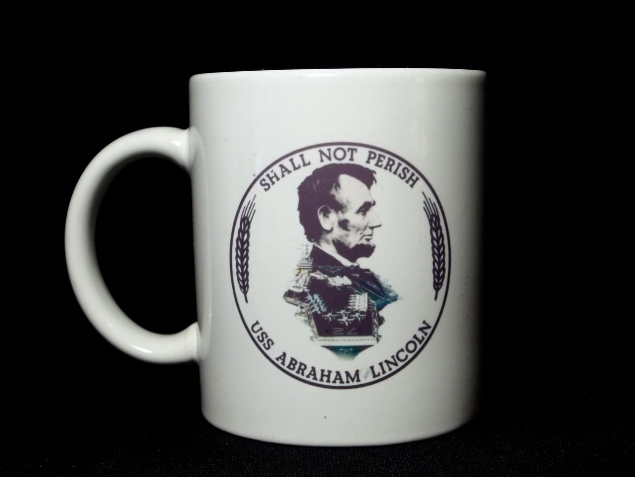 Image 1 of USS Abraham Lincoln CVN-72 Coffee Mug 12 Oz