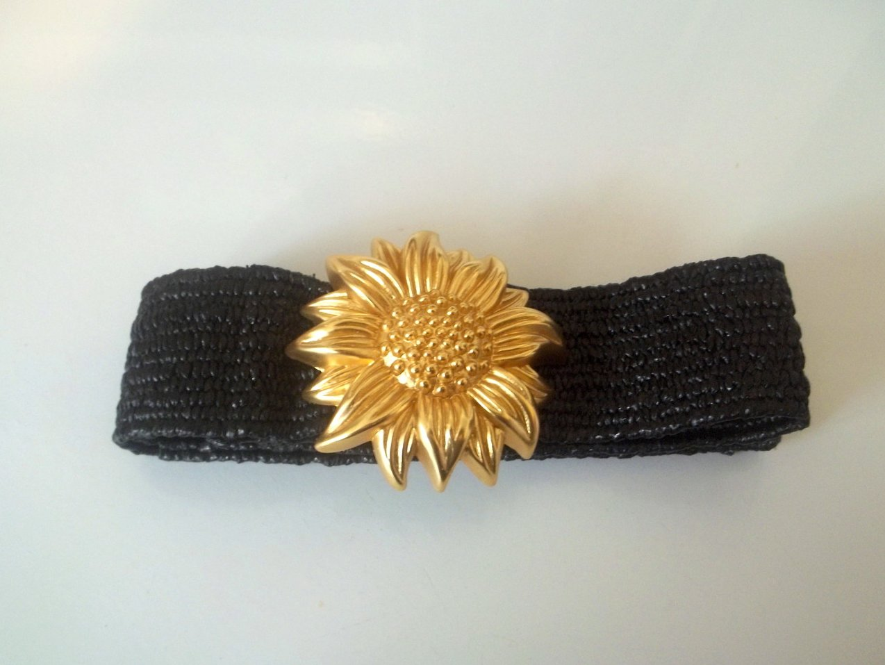 '.Belt Golden Sunflower Blk 32.'