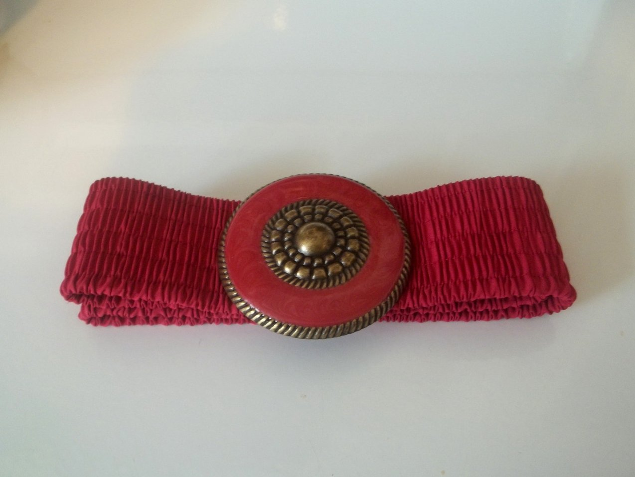 '.Stretch Belt Red Pink Gold O/S.'