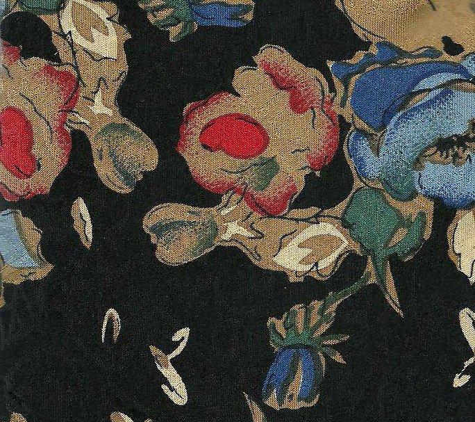 Necktie Tie Floral Silk Black Gold Blue DAKS