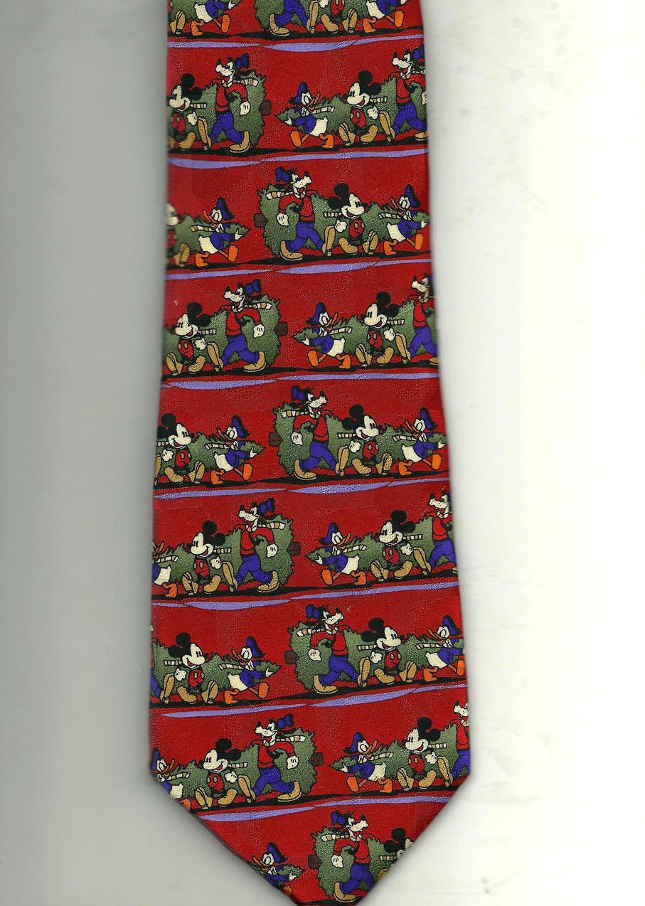 '.Disney Christmas Tree Tie Red.'