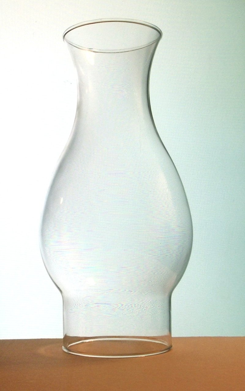Hurricane Lamp Shade 2 7/8 inch fitter x 8.5 x 2.75 Bulged Flare
