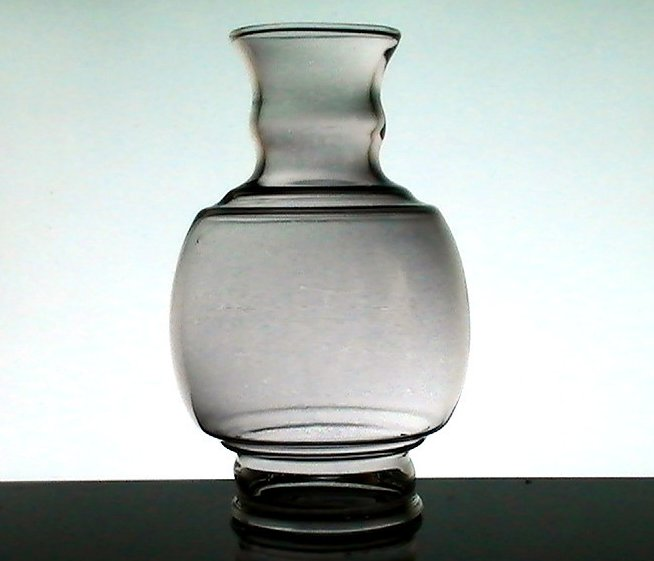 Glass Lamp Shade Bulbous 3 inch fitter x 7 3/8 Smokey Gray Tint