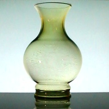 Glass Lamp Shade Bulbous 3 inch fitter x 7.5 inch Gold Amber Tint