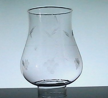 Hurricane Lamp Shade Bulbous Grapes 1 7/8 inch Fitter x 6 x 3 Princess House