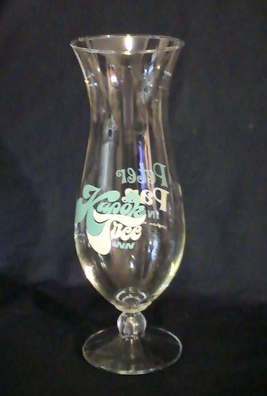 Kapok Tree Inn Peter Pan Inn Hurricane Glass 22 oz Ultra Rare