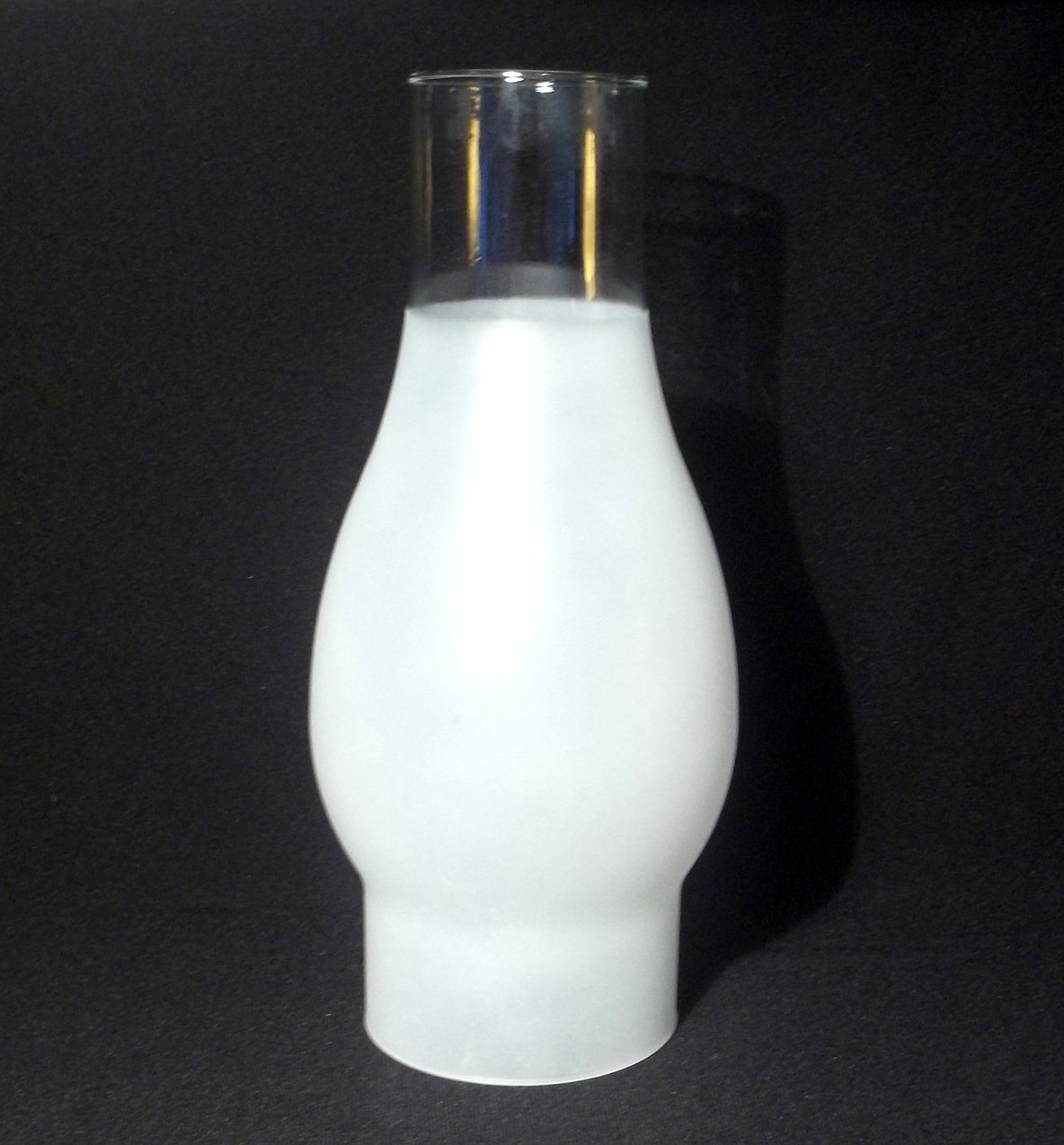 Hurricane lamp shade 3 4 frosted 2 5 8 inch fitter x 7 7 8 oos for Captured glass floor lamp