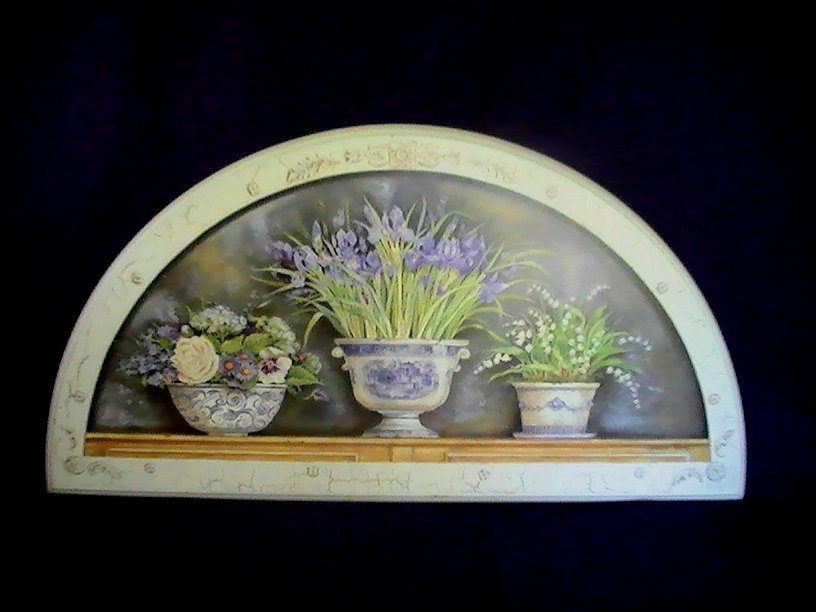 Wall Plaque Decor Purple Iris Spring Garden Kathryn White