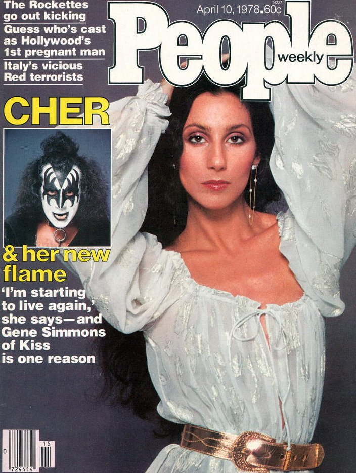 Image 0 of Vintage People Magazine Cher & Gene Simmons April 10 1978