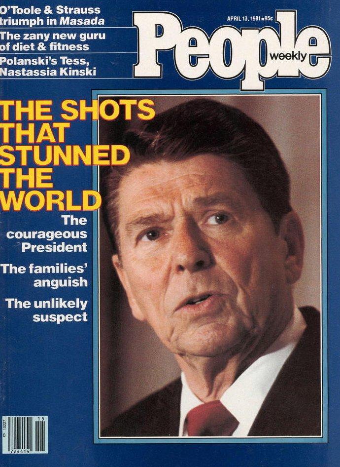 Vintage People Magazine President Ronald Reagan April 13 1981
