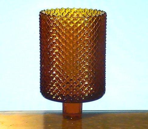 Home Interiors Peg Votive Candle Holder Amber Diamondpoint Barrel