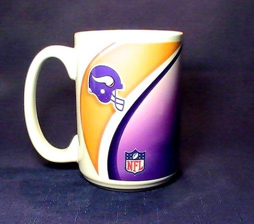 Minnesota Vikings Nfl Coffee Cup Mug 12 Oz Oos