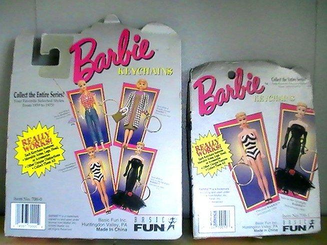 Barbie Doll Key Ring Lot of 2 Vintage