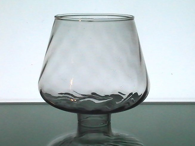 Hurricane Glass Lamp Shade 1.75 fitter x 5 x 3.5 Gray Swirl