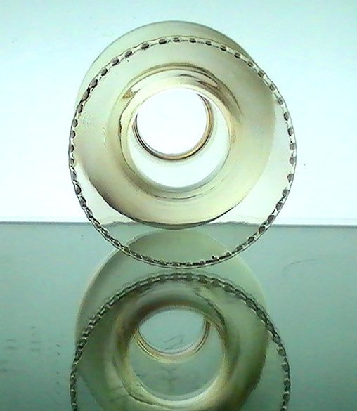 Hurricane Lamp Shade Iridescent Amber 1 5/8 in fitter x 6.25 Rippled Crimp