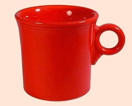 Fiestaware Coffee Mug in Scarlet Red 10.25 oz 453-326