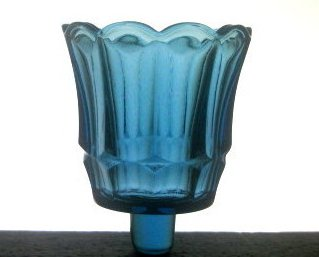 Home Interiors Peg Votive Cup Glass Fluted Starlight Blue
