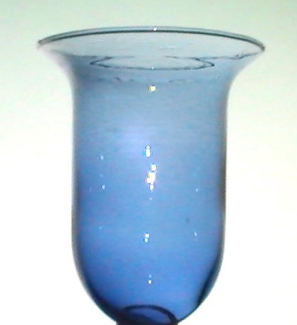 Hanging Candle Holder Blue Hand Blown Flared Rim 5 25 X 4