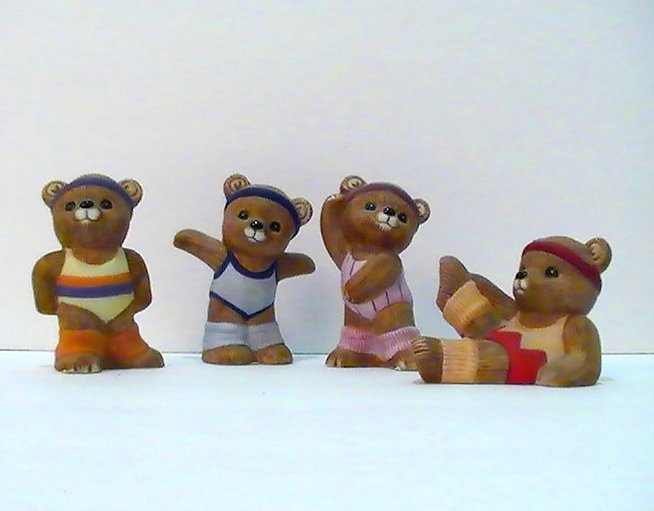 Homco Teddy Bear Fitness Friends 1448 4 pc set