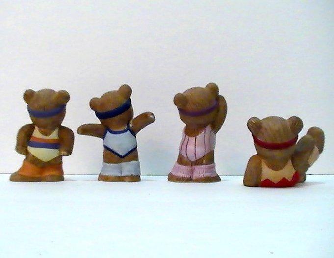 Homco Teddy Bear Fitness Friends 1448 4 pc set