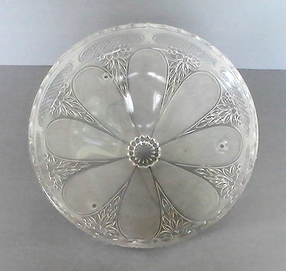 Glass Lamp Shade Clear Art Deco 1930's 3 Hole Suspended Vintage