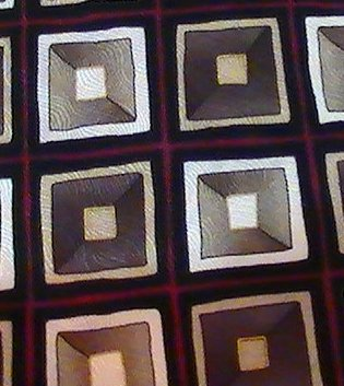 Necktie Tie Facets Geometric Blocks Print Silk