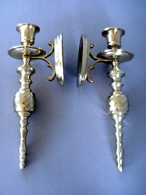 '.Brass Wall Candle Sconces.'