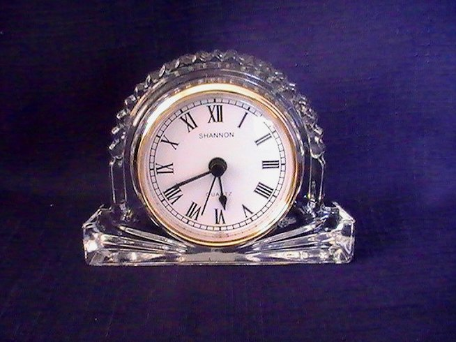 Mantle or Desk Clock Shannon Crystal Godinger