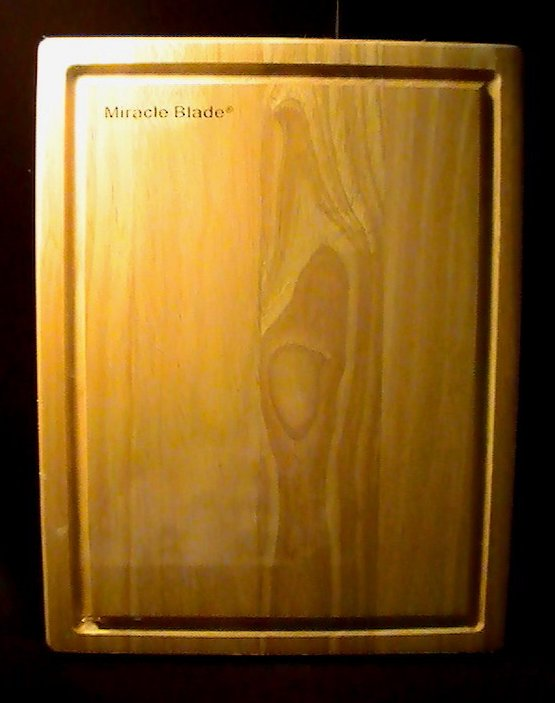 Wooden Cutting Board 16 x 12 Miracle Blade Factory Sealed
