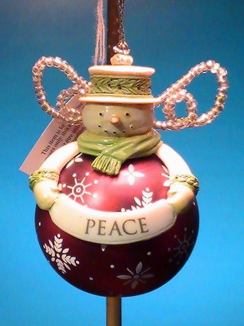 Grasslands Road Snowman Ornament Peace Holiday Christmas
