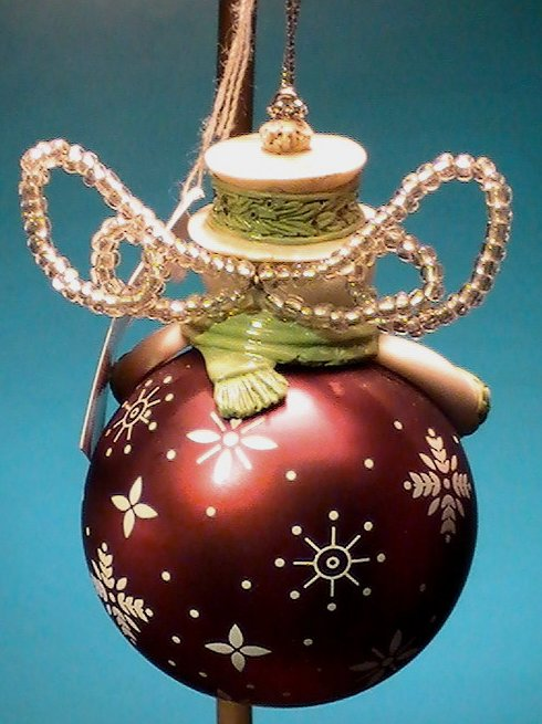 Image 1 of Grasslands Road Snowman Ornament Peace Holiday Christmas