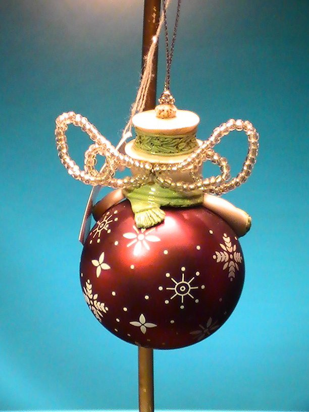 Image 3 of Grasslands Road Snowman Ornament Peace Holiday Christmas
