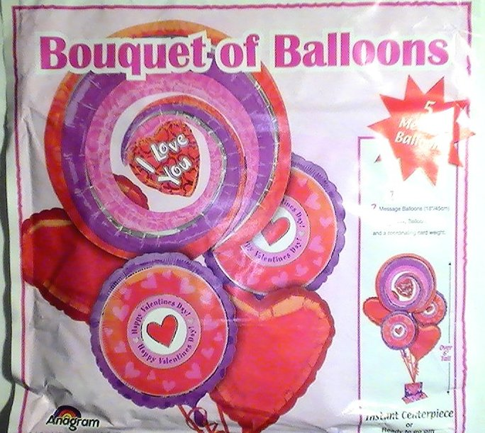 Mylar Balloon Bouquet Valentine's Day Lot of 11 5 pks