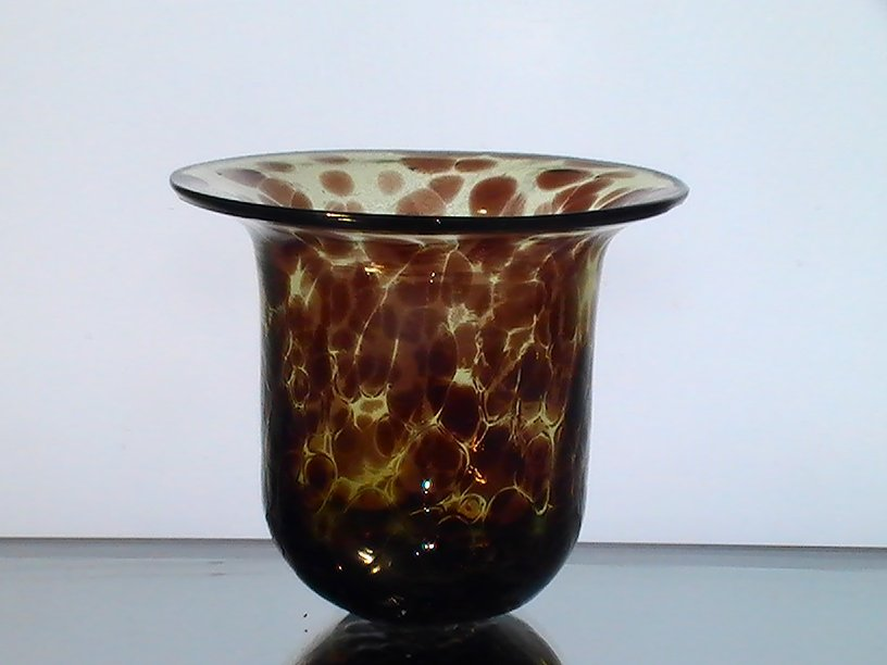 Hanging Candle Holder Bowl Leopard Print 4 25 X 4 75 Amber