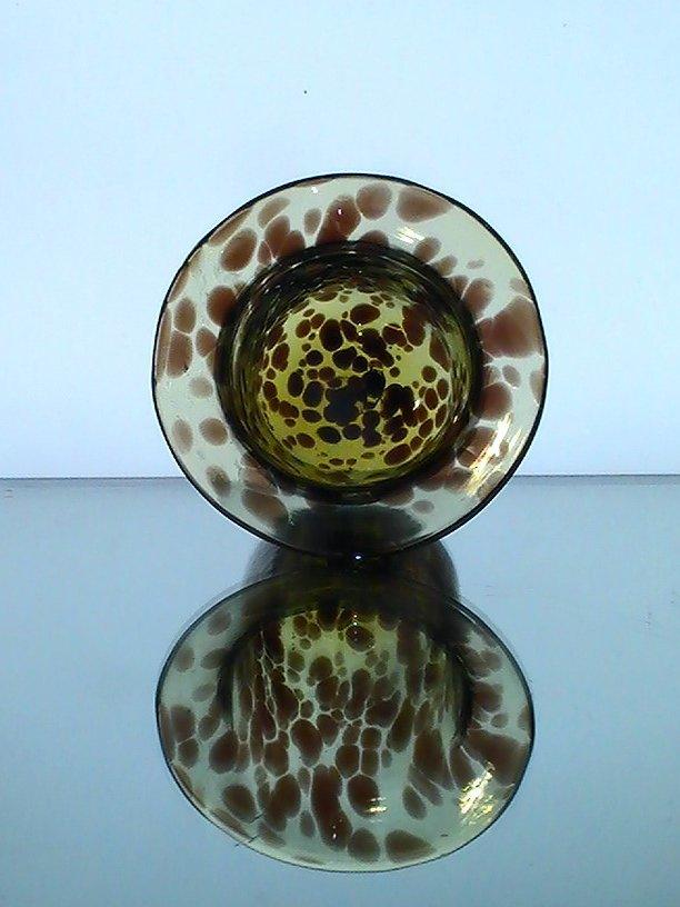 Hanging Candle Holder Bowl Leopard Print 4 25 X 4 75 Amber